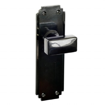 BROLITE 6884  Real Bakelite Door Knobs Black