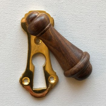 Natural Wooden Covered Escutcheon