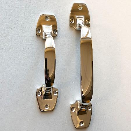 Art Deco Pull Handles 153mm Polished Chrome