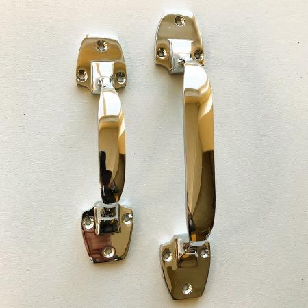 Art Deco Pull Handles 153mm Polished Nickel