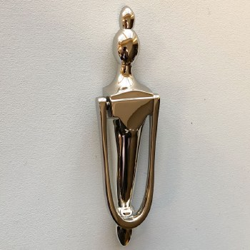 Slim Victorian Urn Door Knocker Polished Nickel