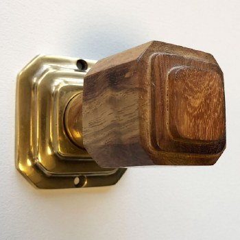 Art Deco Wooden Knobs Natural