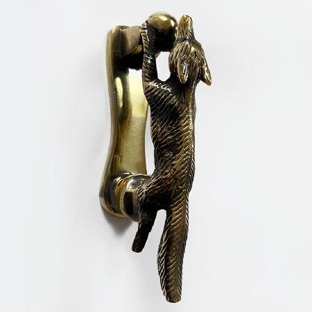 Fox Door Knocker Renovated Brass