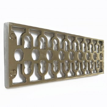 Cast Air Vent Decorative Polished Nickel