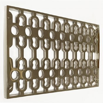 Double Cast Air Vent Decorative Polished Nickel