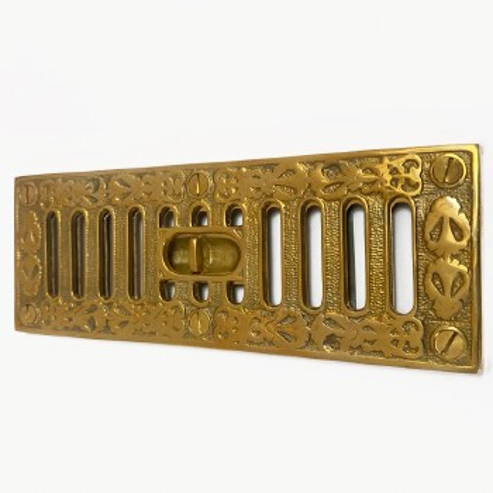 Cast Decorative Hit & Miss Air Vent Polished Brass