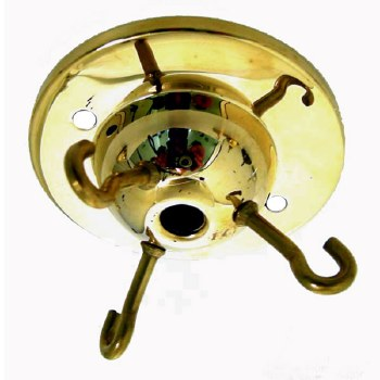 Triple Ceiling Hook 73mm Unlacquered