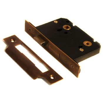 Bathroom Door Lock 76mm with 5mm Spindle Hand Aged
