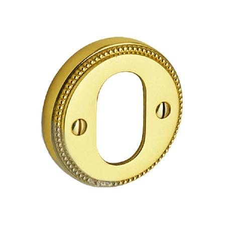 Regency Princess 944 Oval Hole Escutcheon Polished Brass Unlacquered