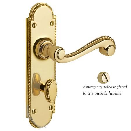Regency Princess 951 Bathroom Handles Polished Brass Unlacquered