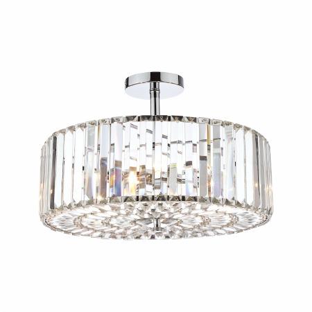 Laura Ashley Fernhurst 4 Light Semi Flush Crystal