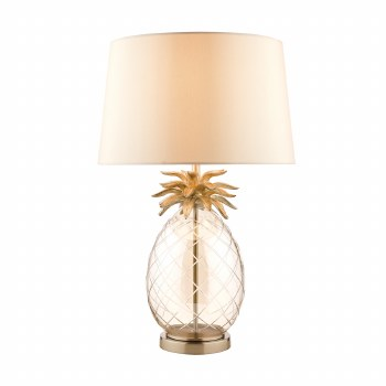 Laura Ashley Pineapple Table Lamp Large Champagne Glass with Shade
