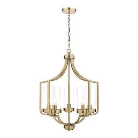 Laura Ashley Joseph 5 Light Chandelier Antique Brass