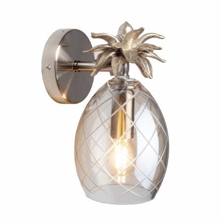 Laura Ashley Pineapple Wall Light Champagne Glass