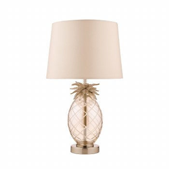 Laura Ashley Pineapple Table Lamp Champagne Glass with Shade