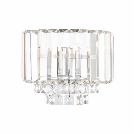 Laura Ashley Wall Light Glass Polished Chrome