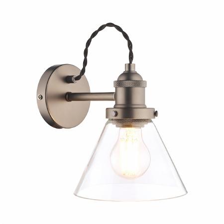 Laura Ashley Isaac Wall Light Industrial Nickel