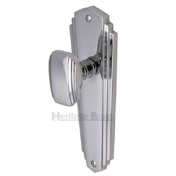 Heritage Charlston Door Knobs Lever Latch CHA1910 Polished Chrome