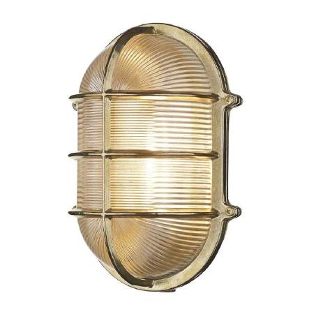 David Hunt ADM2140 Admiral Bulkhead Light Lrg Natural Brass IP64