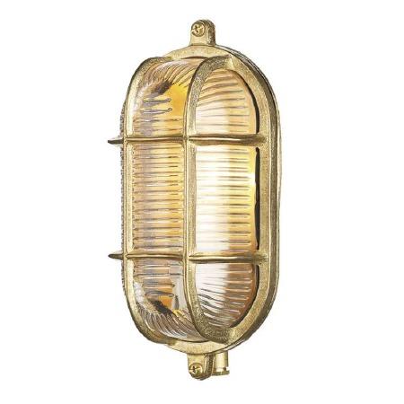 David Hunt ADM5240 Admiral Bulkhead Light Sml Natural Brass IP64