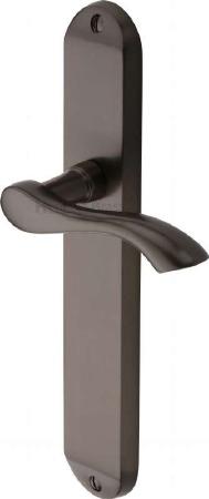 Heritage Algarve Long Latch Door Handles MM7210 Matt Bronze