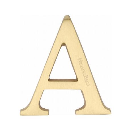 Heritage C1565 Letter A Satin Brass
