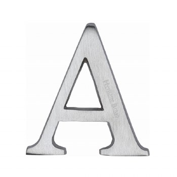 Heritage C1565 Letter A Satin Chrome