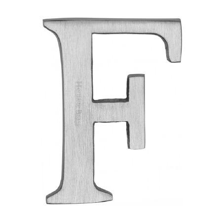 Heritage C1565 Letter F Satin Chrome