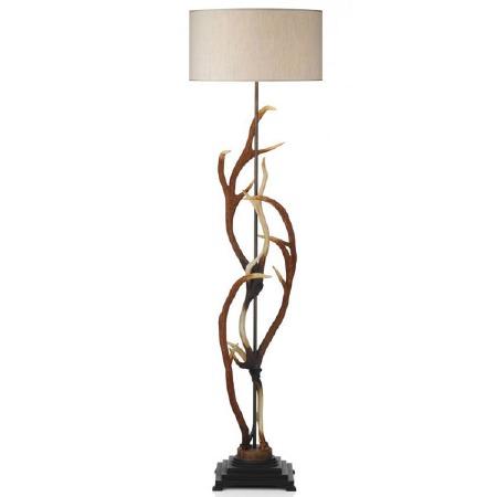 David Hunt ANT4929 Antler Floor Lamp with Cream Shade