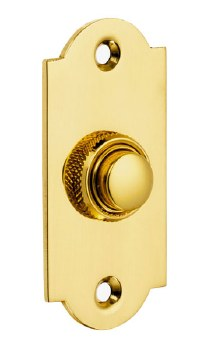 Croft Arched Door Bell Push 1914 Polished Brass Unlacquered