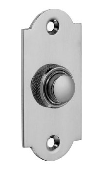 Croft Arched Door Bell Push 1914 Polished Chrome