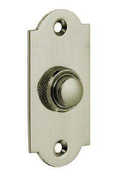 Croft Arched Door Bell Push 1914 Polished Nickel