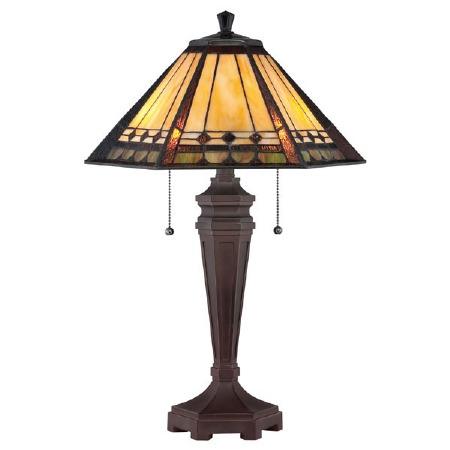 Quoizel Arden Tiffany Table Lamp Bronze Patina