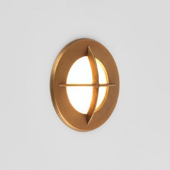 Arran Round Wall Light Coastal Range Antique Brass