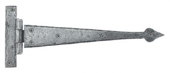 From The Anvil Arrow Head T Hinges Pewter 12""