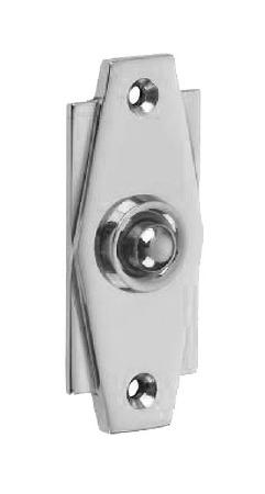 Croft Art Deco Door Bell Push 7015 Polished Chrome