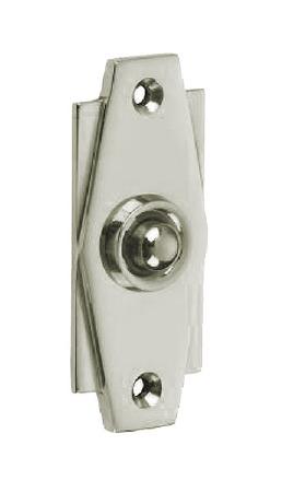 Croft Art Deco Door Bell Push 7015 Polished Nickel