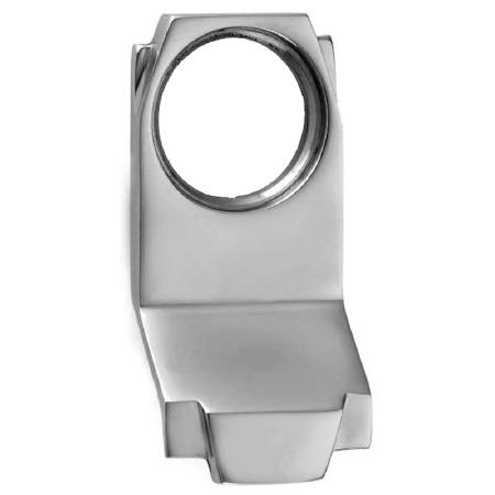 Croft Art Deco Cylinder Door Pull 7016 Polished Chrome