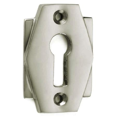 Croft Art Deco Escutcheon 7008 Polished Nickel