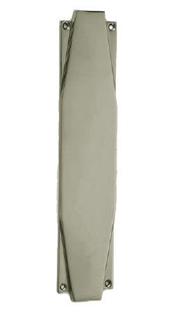 """Croft 7011 Art Deco 12"""" Finger Plate Polished Nickel"""