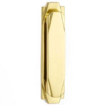 Croft Art Deco Door Knocker 7012 Polished Brass Unlacquered