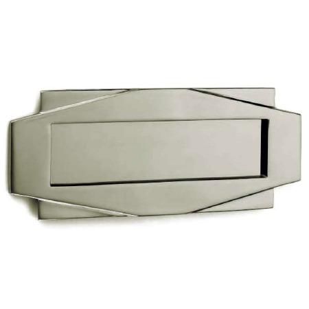 Croft Art Deco Letter Plate 7014 Polished Nickel