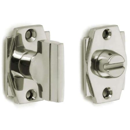 Croft 7007 Art Deco Thumb Turn & Release Polished Nickel
