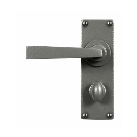 Stonebridge Arundel Bathroom Door Handles Armor Coat Satin Steel