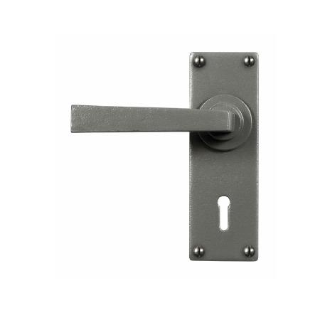 Stonebridge Arundel Lever Lock Door Handles Armor Coat Satin Steel