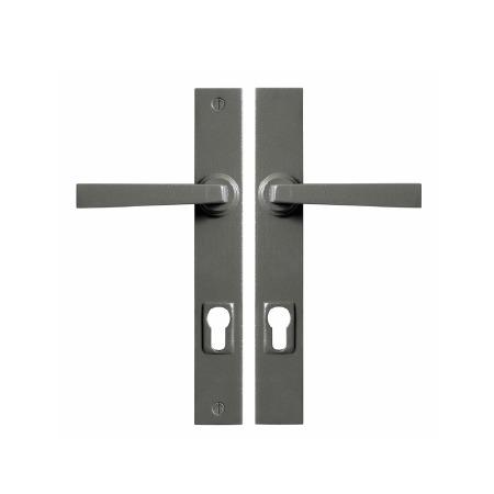 Stonebridge Arundel Multipoint Entry Lock Door Handles Armor Coat Satin Steel