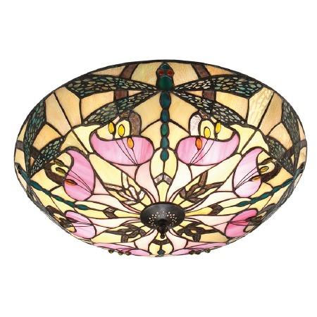 Interiors 1900 Ashton Tiffany Flush Ceiling Light