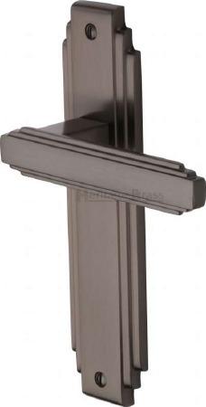 Heritage Astoria Latch Door Handles AST5910 Matt Bronze