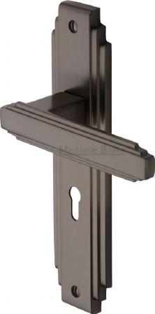 Heritage Astoria Door Lock Handles AST5900 Matt Bronze