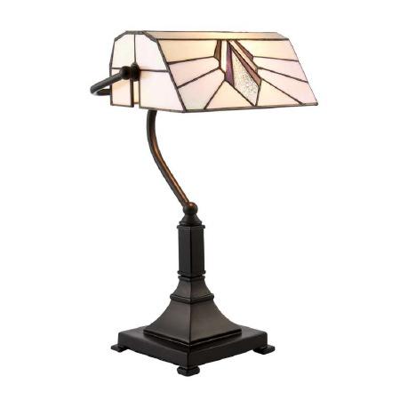 Interiors 1900 Astoria Tiffany Bankers Lamp 70909